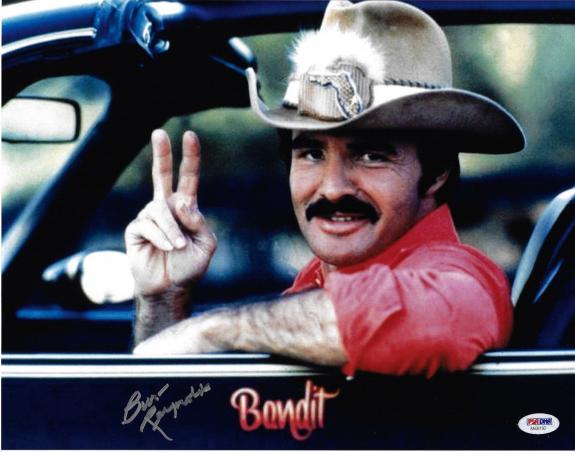 Burt Reynolds Signed 11x14 Smokey and the Bandit Photo - Trans Am PSA