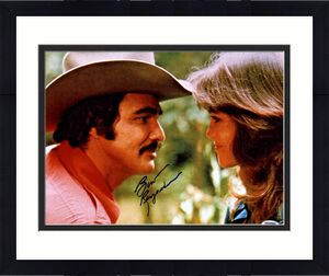 Burt Reynolds Signed 11x14 Smokey and the Bandit Photo -  with Sally Beckett PSA