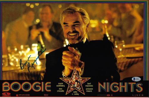 Burt Reynolds Signed 11x17 Boogie Nights Movie Poster Photo - Beckett BAS