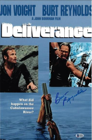 Burt Reynolds Signed 11x17 Deliverance Movie Poster Photo - Beckett BAS Witness