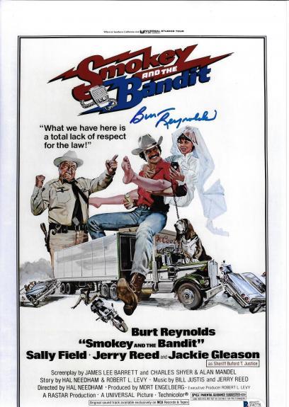 Burt Reynolds Signed 11x17 Smokey and the Bandit Movie Poster Photo - Beckett