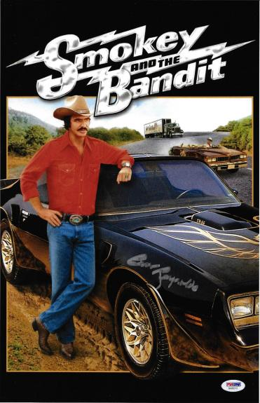 Burt Reynolds Signed 11x17 Smokey and the Bandit Movie Poster Photo - PSA/DNA 3