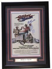 Burt Reynolds Signed 11x17 Smokey and the Bandit Movie Poster PSA