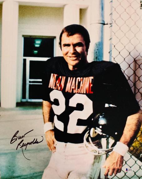 Burt Reynolds Signed 16x20 The Longest Yard Photo - Mean Machine Beckett BAS