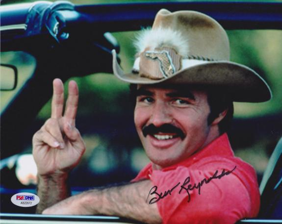 Burt Reynolds Signed 8x10 Smokey and the Bandit Photo - Trans Am Peace PSA/DNA