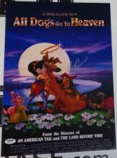 Burt Reynolds Signed All Dogs Go To Heaven 11x17 Photo PSA/DNA COA Auto'd Poster