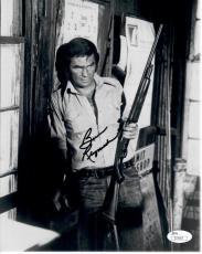 Burt Reynolds Signed Autograph 8x10 Photo Deliverance Wall Leaning w/Gun JSA 667