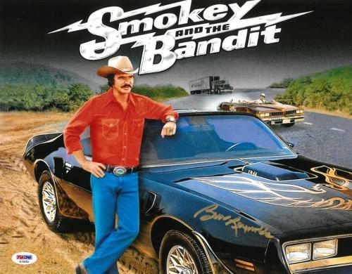 Burt Reynolds Signed Bandit Authentic Autographed 11x14 Photo PSA/DNA COA