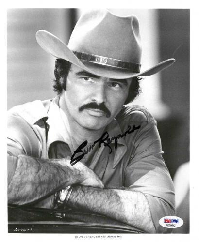 Burt Reynolds Signed Bandit Autographed 8x10 Press Release Photo PSA/DNA#AD59642