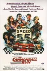 Burt Reynolds Signed Cannonball Run 11x17 Photo PSA/DNA COA Auto Picture Poster