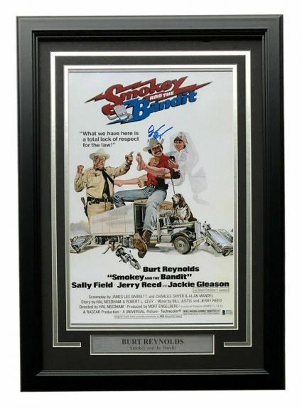Burt Reynolds Signed Framed 12x18 Smokey And The Bandit Movie Poster Photo BAS