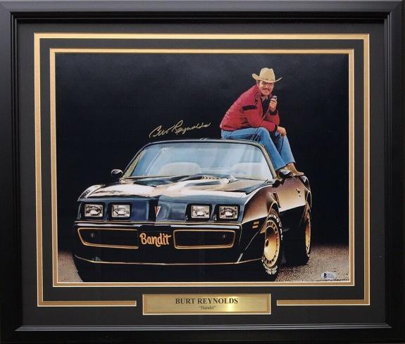 Burt Reynolds Signed Framed 16x20 Smokey And The Bandit Spotlight Photo BAS