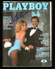Burt Reynolds Signed October 1979 Playboy Magazine BAS #B03633