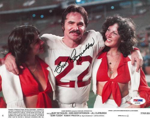 Burt Reynolds Signed Semi Tough Autographed 8x10 Lobby Card PSA/DNA #AD59646