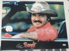 Burt Reynolds Signed Smokey and the Bandit 16x20 Photo PSA/DNA COA Auto'd Poster
