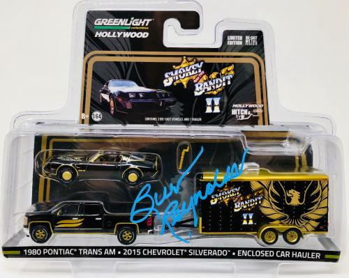 Burt Reynolds Signed Smokey and the Bandit Die Cast Set - Beckett BAS Witnessed