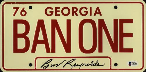 Burt Reynolds Signed Smokey and the Bandit License Plate - Ban One Beckett BAS