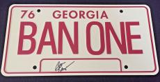 Burt Reynolds Signed 'smokey And The Bandit' License Plate Jsa Coa