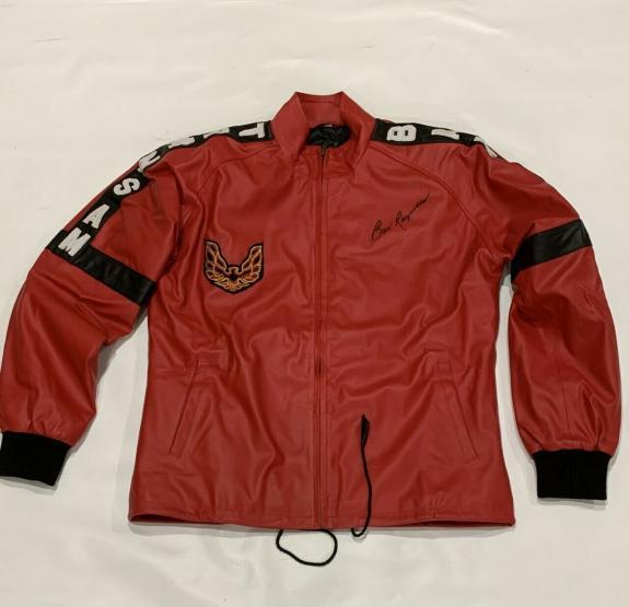 Burt Reynolds Signed Smokey And The Bandit Red Motorbike Jacket Proof Psa Coa