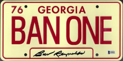 Burt Reynolds signed Smokey & The Bandit Georgia 1976 BAN ONE License Plate- Beckett Hologram #I95607