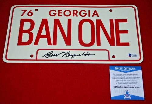 BURT REYNOLDS signed Smokey & The Bandit License Plate BAS WITNESSED COA 1