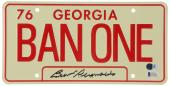 Burt Reynolds Smokey and The Bandit Autographed Licence Plate - BAS