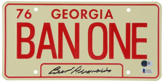 Burt Reynolds Smokey and The Bandit Autographed Licence Plate - BAS