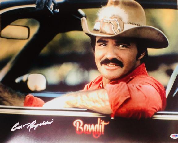 Burt Reynolds Smokey and the Bandit Signed 16x20 Photo - BAS Beckett Witnessed
