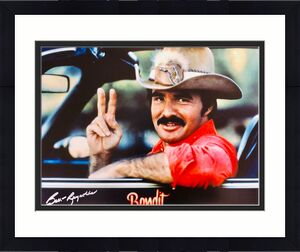 Burt Reynolds Smokey and the Bandit Signed 16x20 Photo Peace - PSA/DNA Witnessed