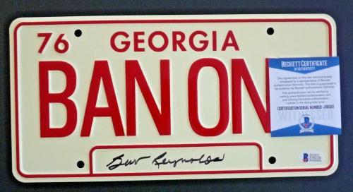 Burt Reynolds Smokey Bandit Signed Autographed Metal License Plate PSA Certified