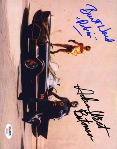 BURT WARD ADAM WEST PSA DNA Cert Hand Signed Batman 8x10 Photo Autograph