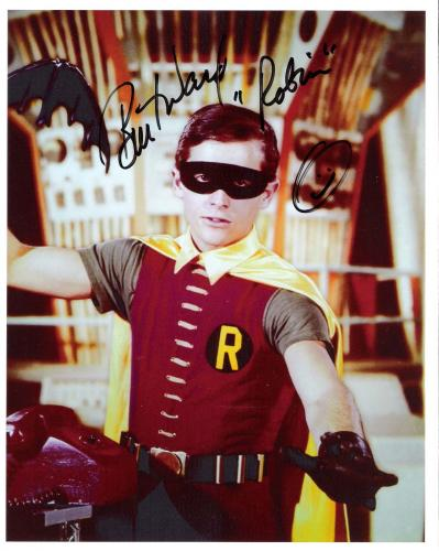 "BURT WARD as ROBIN on TV Series ""BATMAN"" Nice Close Up! Signed 8x10 Color Photo"