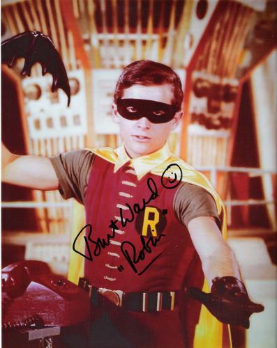 """BURT WARD - From 1966-68 he Played ROBIN in TV Series """"BATMAN"""" Signed 8x10 Color Photo"""