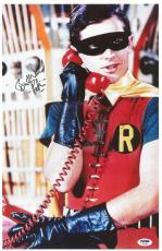 Burt Ward Signed Robin Authentic Autrographed 11x17 Poster PSA/DNA #AC18273
