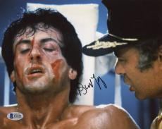 "Burt Young Autographed 8"" x 10"" Rocky - Scream at Rocky Photograph - Beckett COA"