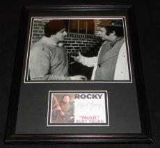 Burt Young Signed Framed 11x14 Photo Display Rocky Paulie