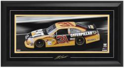 Jeff Burton Framed Mini Panoramic with Facsimile Signature