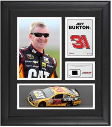 "Jeff Burton Framed 15"" x 17"" Collage with Race-Used Tire"