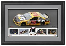 Jeff Burton Framed Collage with Race-Used Tire - Limited Edition of 500