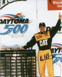 Ward Burton Autographed 8'' x 10'' Caterpillar One Hand Up Photograph