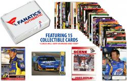 Kurt Busch Collectible Lot of 15 NASCAR Trading Cards - Mounted Memories
