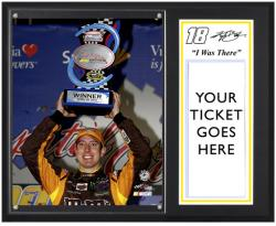 "Kyle Busch 2012 Capital City 400 Sublimated 12'' x 15''""I Was There"" Photo Plaque - Mounted Memories"