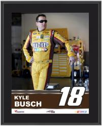 "Kyle Busch Sublimated 10.5"" x 13"" Plaque - Mounted Memories"