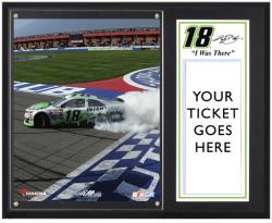 Kyle Busch 2013 Auto Club 400 Sublimated 12'' x 15'' I WAS THERE Plaque - Mounted Memories