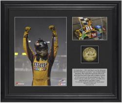 Kyle Busch 2013 AdvoCare 500 Race Winner Framed 2-Photograph Collage with Gold-Plated Coin - Mounted Memories