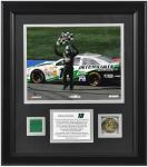 "Kyle Busch 2013 Auto Club 400 Winner Framed 8"" x 10"" Photograph with Gold Coin & Race-Used Flag-Limited Edition of 118"