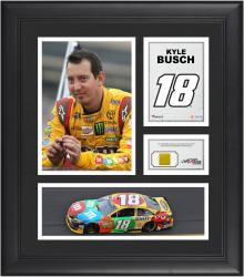 Kyle Busch Framed 15'' x 17'' Collage with Race-Used Tire - Mounted Memories