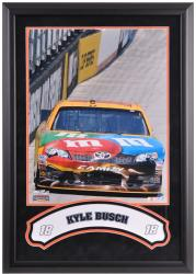 Kyle Busch Framed Iconic 16'' x 20'' Photo with Banner - Mounted Memories