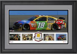 Kyle Busch Framed Collage with Race-Used Tire-Limited Edition of 500 - Mounted Memories