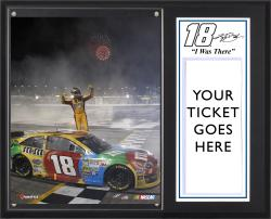 Kyle Busch 2013 AdvoCare 500 Race Winner Sublimated 12'' x 15'' I Was There Plaque - Mounted Memories